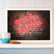 Personalised Neon Open for Business Poster