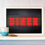 Personalised Neon American Diner Poster