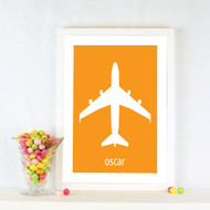 Personalised Big Plane 2 Poster