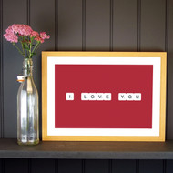 Personalised Scrabble Love