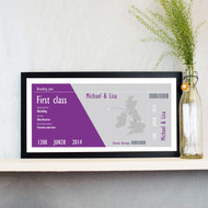 Personalised Wedding Boarding Pass