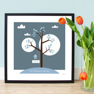 Personalised Family Greeting Tree