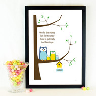 Personalised Owl Family Poster