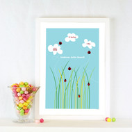 Personalised Ladybird Field Poster
