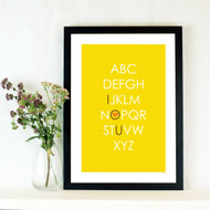 Personalised ABC Hearts Poster