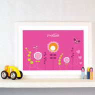 Personalised Filed of Flowers Poster