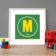 Personalised Big Letter Name Poster