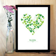 Personalised Love Hearts Poster