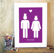 Personalised The Wedding Couple Poster
