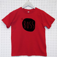 Personalised 'The Boss' Child's Organic Cotton T-shirt