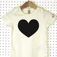 'Heart' Organic Cotton Babygrow or Jumpsuit