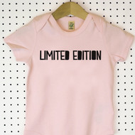 'Limited Edition' Organic Cotton Babygrow or Jumpsuit