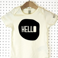 'Hello' Organic Cotton Babygrow or Jumpsuit