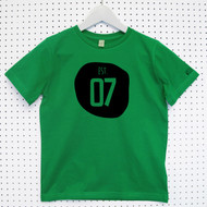 Personalised 'Established' Child's Organic Cotton T-shirt