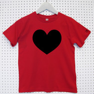 Personalised 'Heart' Child's Organic Cotton T-shirt