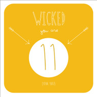 Wicked 11 Birthday Greeting Card