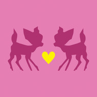 Pink love bambi Greeting Card