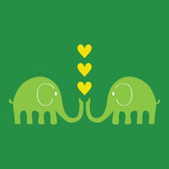 Green Elephants Greeting Card