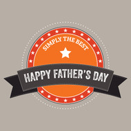 Simply the best, Father's day Greeting Card