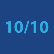 10/10 blue Greeting Card