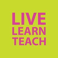 Live learn teach Greeting Card