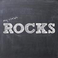 My class rocks chalkboard Greeting Card