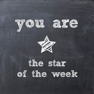 star of the week chalkboard Greeting Card