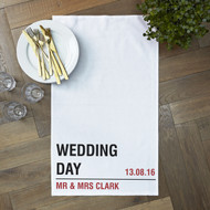 Personalised 'Wedding Street Tea Towels'