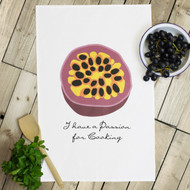 'Passion For Cooking' Tea Towels