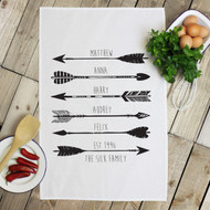 Personalised 'Arrow' Tea Towels
