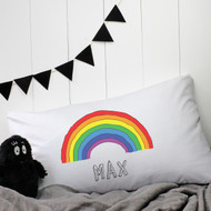 Personalised 'Rainbow' Pillow Case