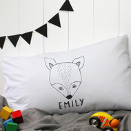 Personalised 'Fox' Pillow Case