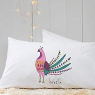 Personalised 'Bird'  Pillow Case