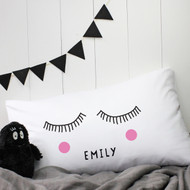 Personalised 'Sleepy Eyes' Pillow Case