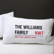 Personalised 'Street Sign' Pillow Case