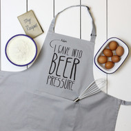 Personalised 'Beer Pressure' Apron
