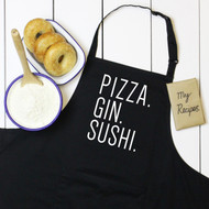 Personalised 'Favourite Food And Drink' Apron