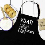 Personalised 'Name And Favourite Hashtag' Apron