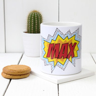 Personalised 'Pop Art' mug