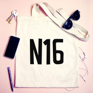 Personalised  'Postcode' Tote Bag