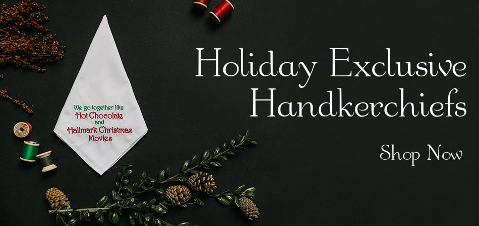 Holiday Embroidered Handkerchiefs