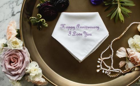 2nd Wedding Anniversary Gift.2nd Wedding Anniversary Gift The Handkerchief Shop