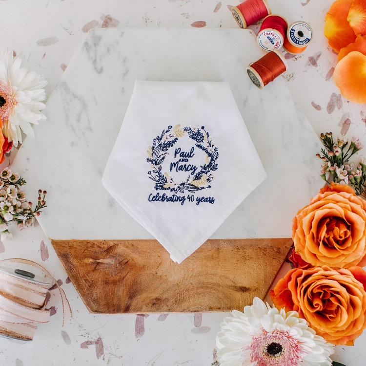 Custom Embroidered Handkerchiefs with Your Design - the Handkerchief