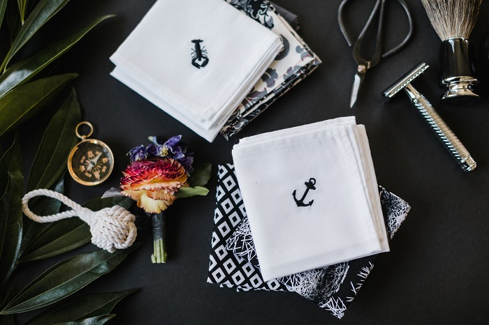 Custom Logo Embroidered Handkerchief