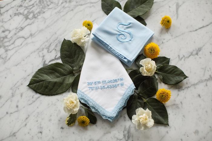 Embroidered Wedding Handkerchief