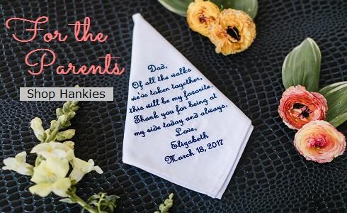 Wedding Handkerchiefs for Parents
