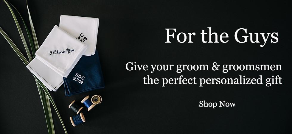 Monogrammed Handkerchief for Men