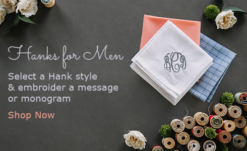 Mens Monogrammed Handkerchiefs
