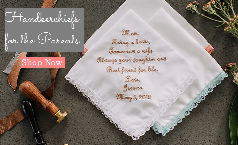 Wedding Handkerchiefs for Parents