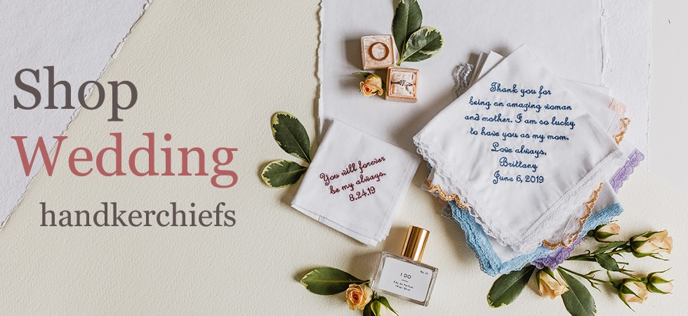 Wedding Handkerchiefs | Personalized Embroidery | Men's Handkerchiefs